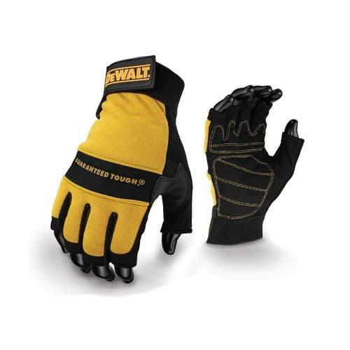 Dewalt Tough Fingerless Gloves Black/Yellow